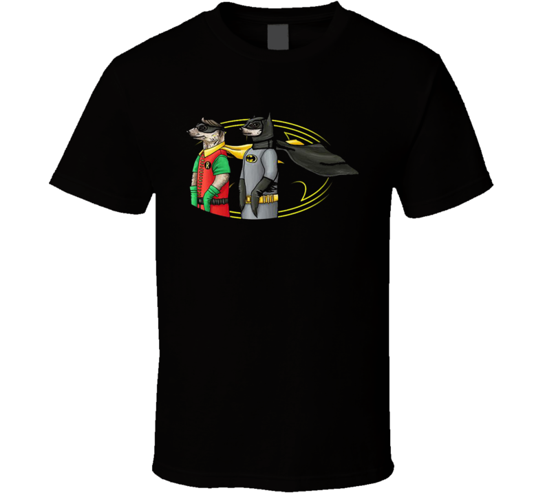 Funny Meercat Batman Robin Parody Animal Superheros Funny Graphic Fan T Shirt
