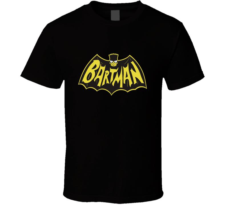 Bartman Batman Parody Simpsons Funny Cartoon Halloween Graphic T Shirt
