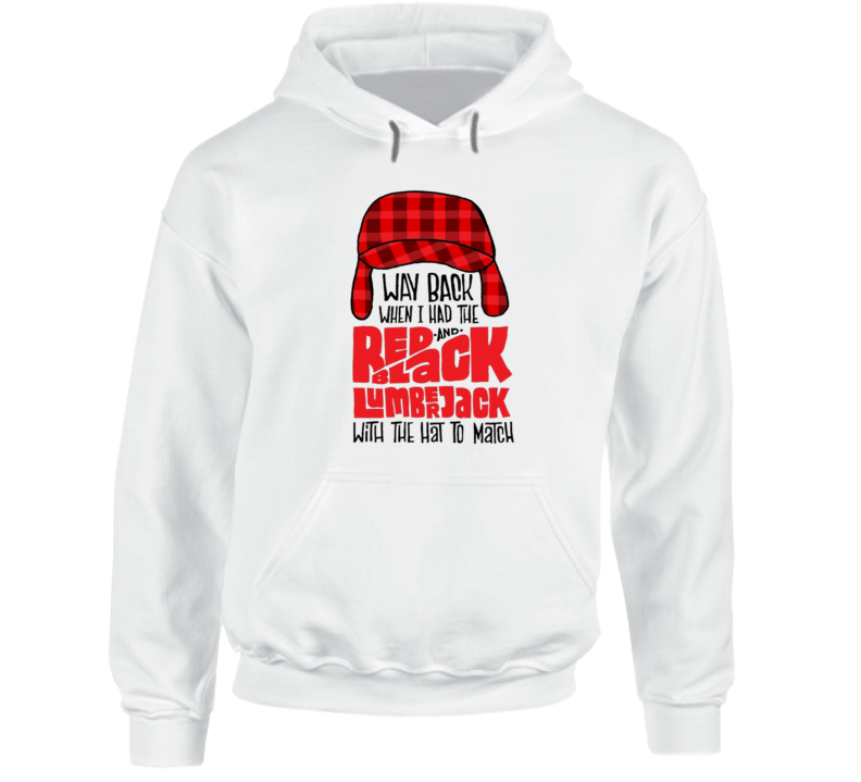 Biggie Smalls Red and Black Lumberjack Quote Hip Hop Rap Music Hooded Pullover