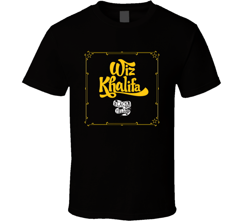 Wiz Khalifa Black and Yellow Hip Hop Rap Music T shirt