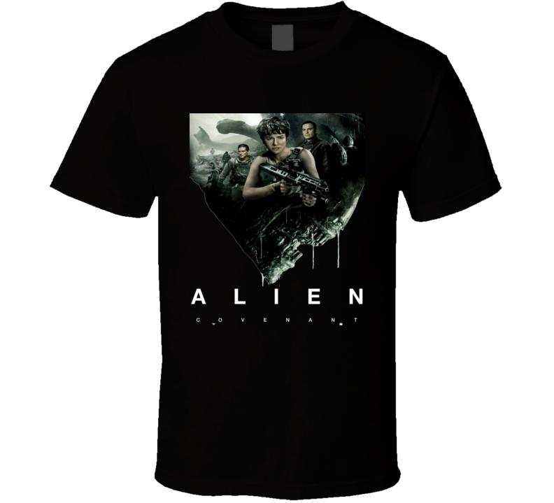 Alien Covenant International Classic Cult Sci Fi Movie T shirt