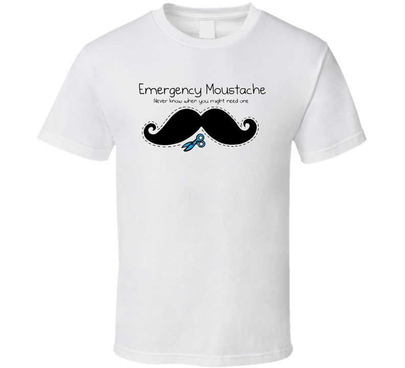 Emergency Moustache T Shirt