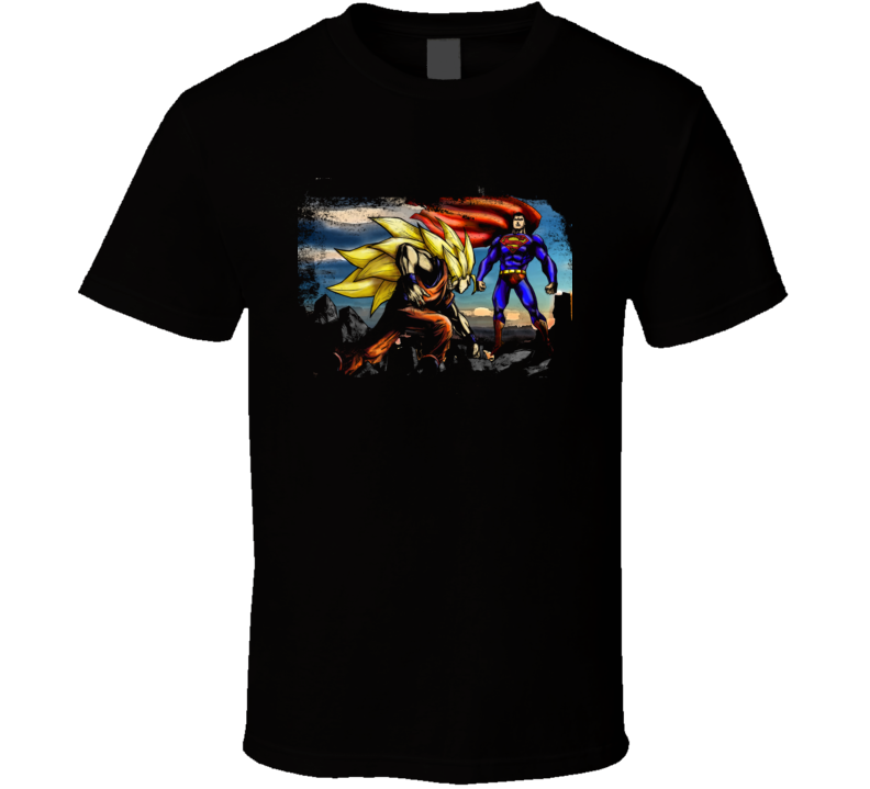 Goku Vs Superman Anime East West T Shirt
