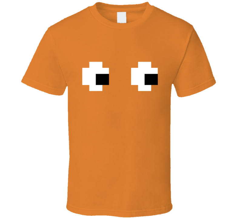 Pacman Orange Ghost Halloween Costume T Shirt