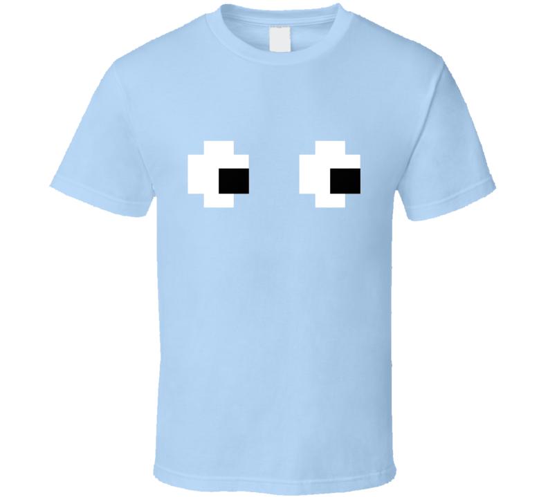 Pacman Blue Ghost Halloween Costume T Shirt