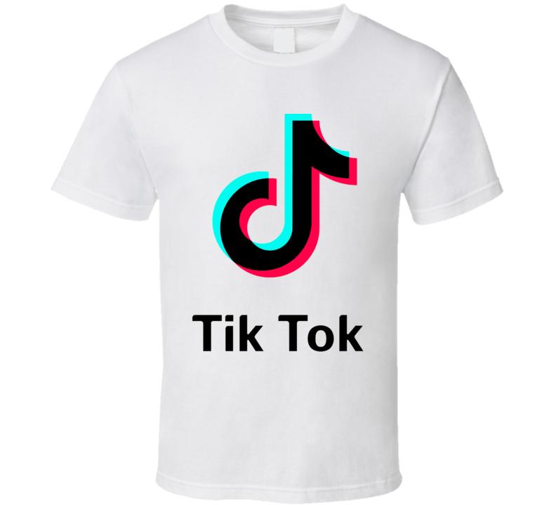 Tik Tok App Social Media Logo Halloween T Shirt