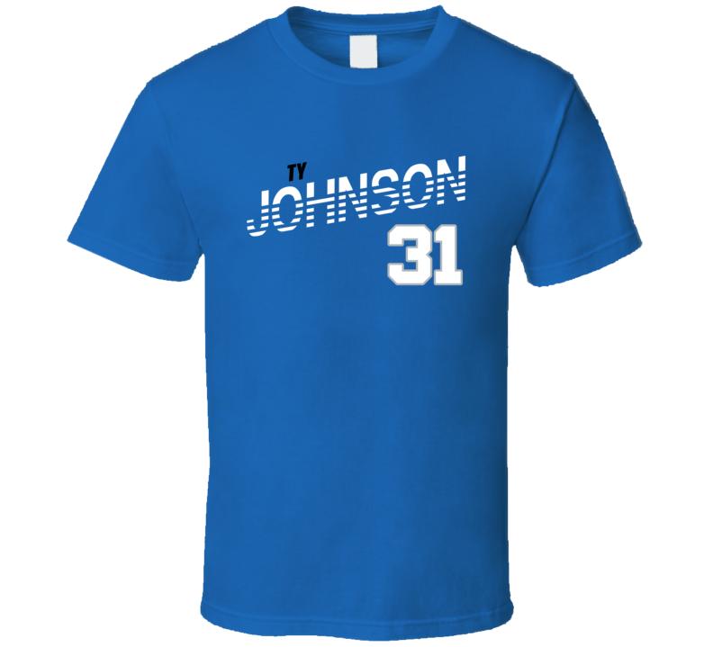 Ty Johnson 31 Favorite Player Detroit Football Fan T Shirt
