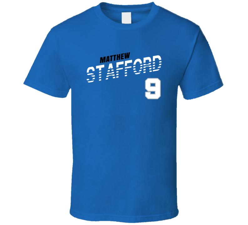Matthew Stafford 9 Favorite Player Detroit Football Fan T Shirt