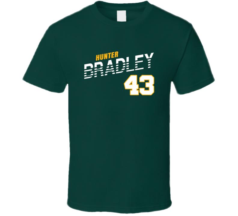 Hunter Bradley 43 Favorite Player Green Bay Football Fan T Shirt