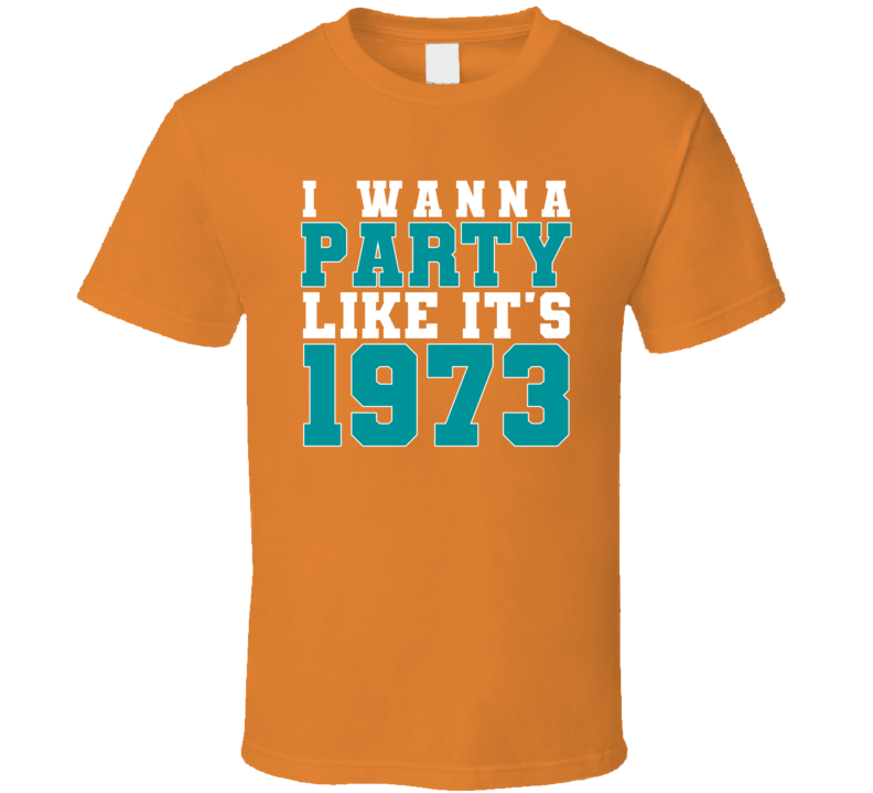 I Wanna Party Like Its 1973 Miami Football Champions T Shirt