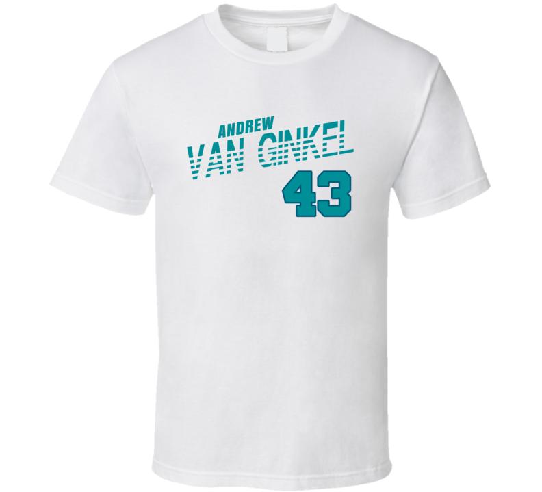Andrew Van Ginkel 43 Favorite Player Miami Football Fan T Shirt