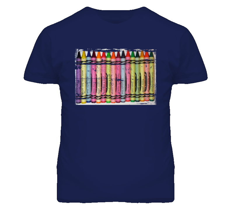 Crayola Internet-themed crayons like green 90s Throwback T Shirt