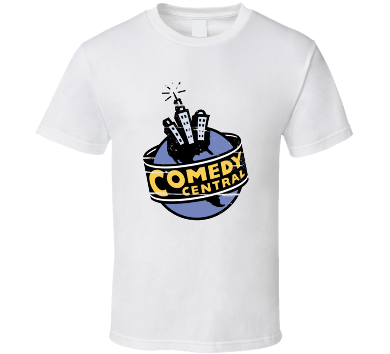 Comedy Central globe logo with buildings 90s Throwback T Shirt
