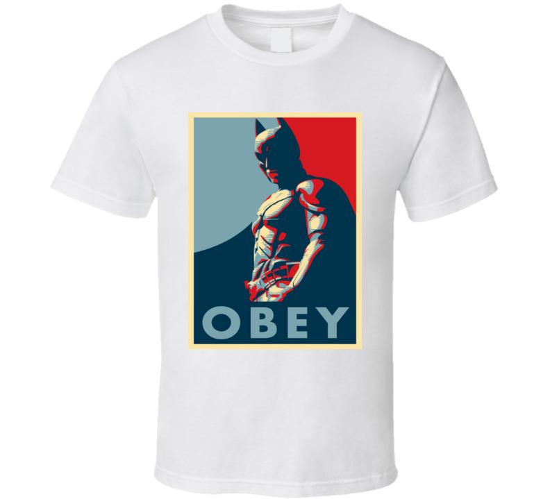 Batman Obey Parody Tshirt