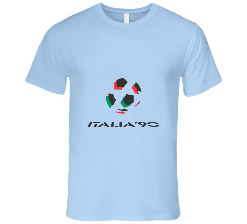 Italia 90 World Cup Soccer Footbal Futbal Retro T-Shirt