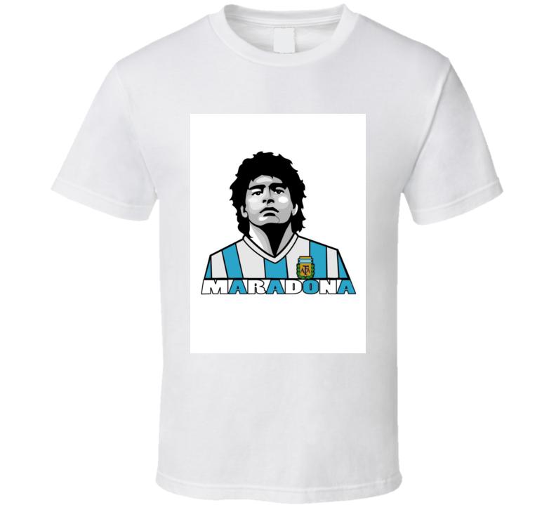 Maradona Soccer Footbal Futbal Argentina T-Shirt