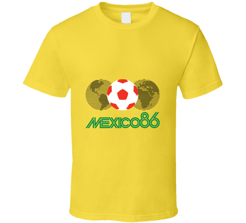 Mexico 86 World Cup Soccer Football Futbal Retro T-Shirt