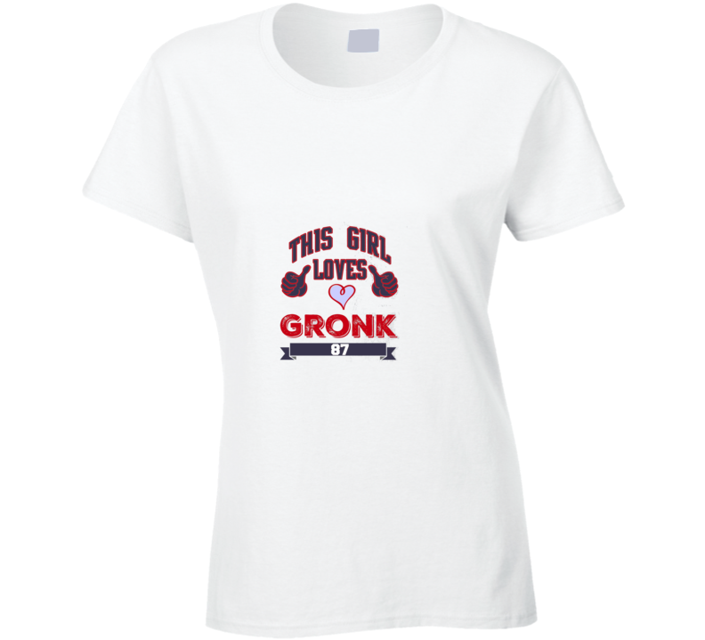 This Girl Loves Gronk Valentines Day Tshirt
