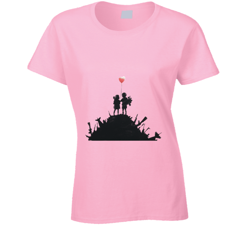 Balloon Children Banksy Print T-Shirt