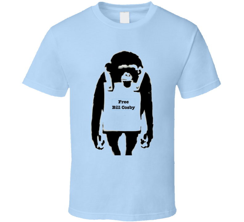 Free Bill Cosby Banksy Print T-Shirt