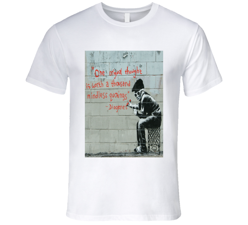 Banksy Diogenes Print T-Shirt
