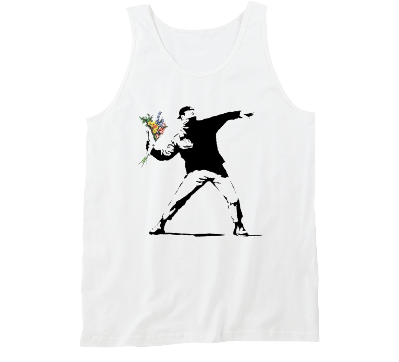 Flower Thrower Banksy Print Tanktop