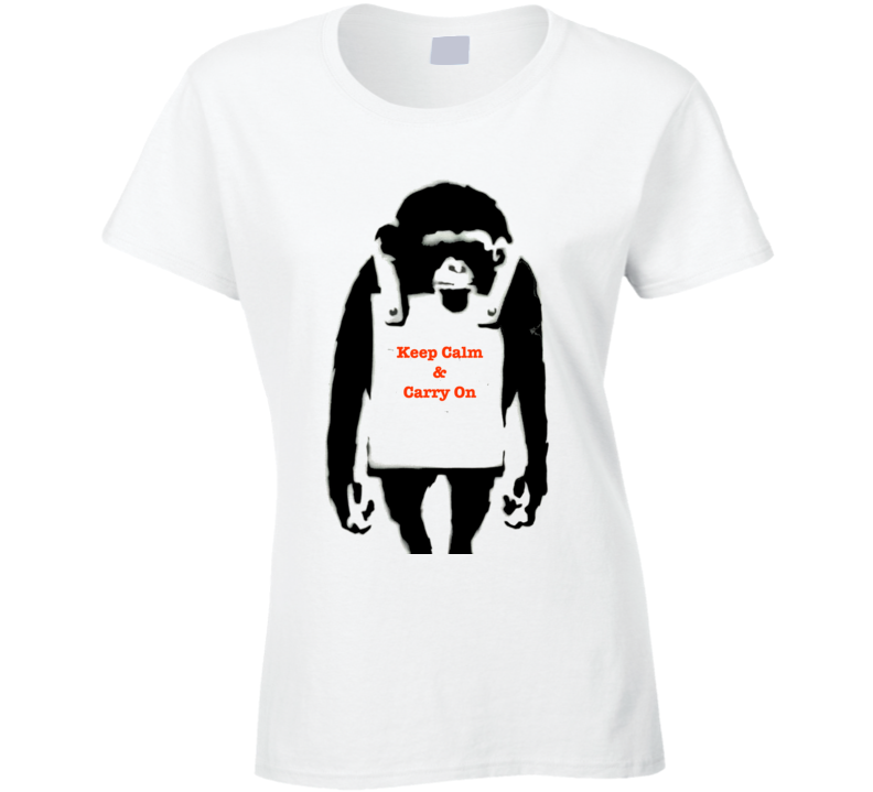 Keep Calm & Carry On Banksy Print T-Shirt
