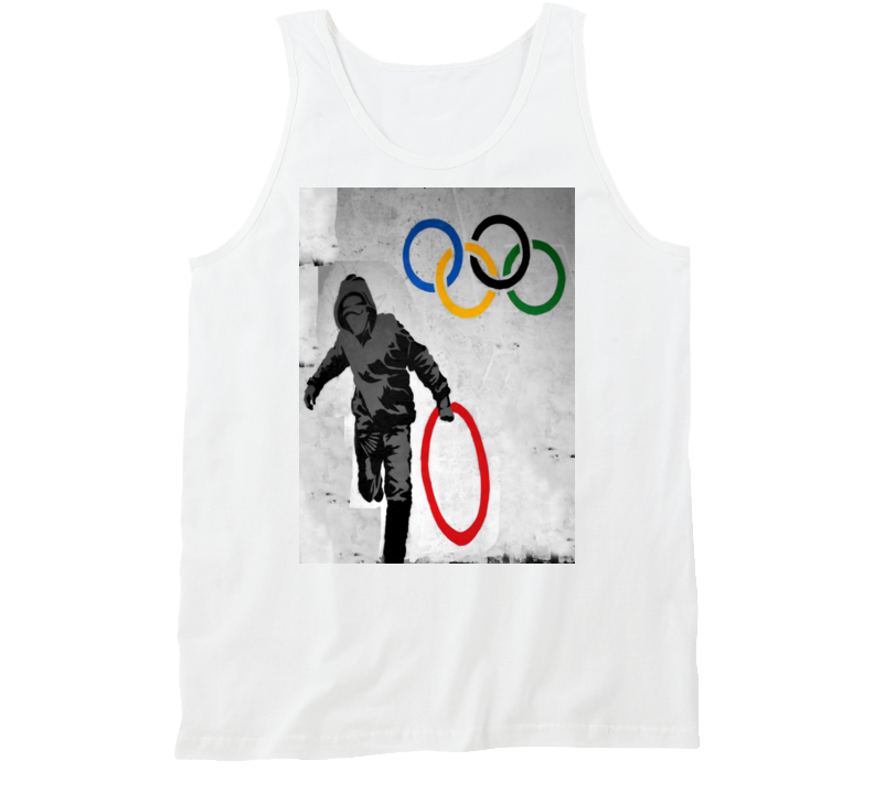 Olympic Rings Banksy Print T-Shirt