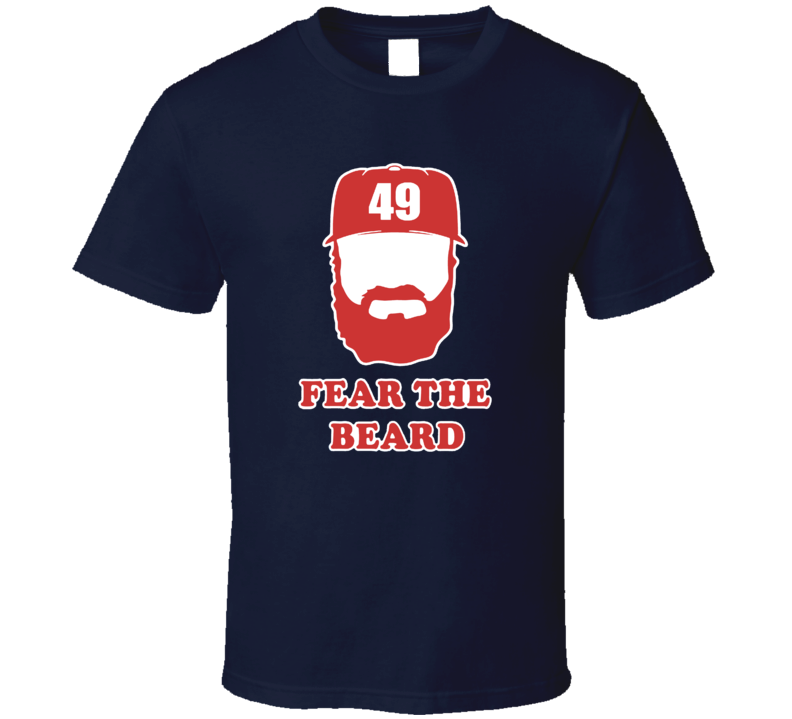 Jake Arrieta Fear The Beard Ace Chicago Baseball T Shirt