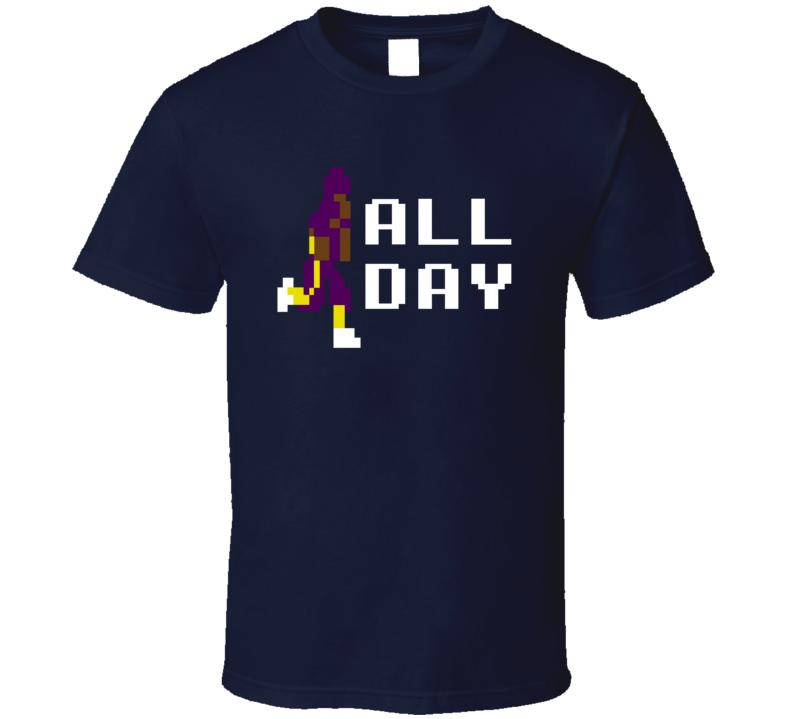 Adrian Peterson AP All Day 8 Bit Minnesota Football T Shirt