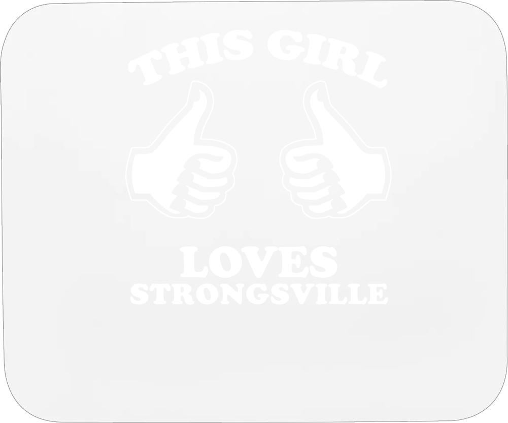 This Girl Loves Strongsville Custom Mousepad