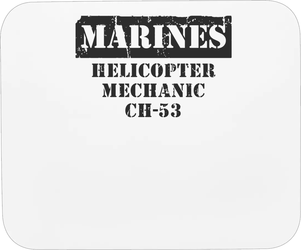 Helicopter Mechanic Ch-53 Marines Mousepad