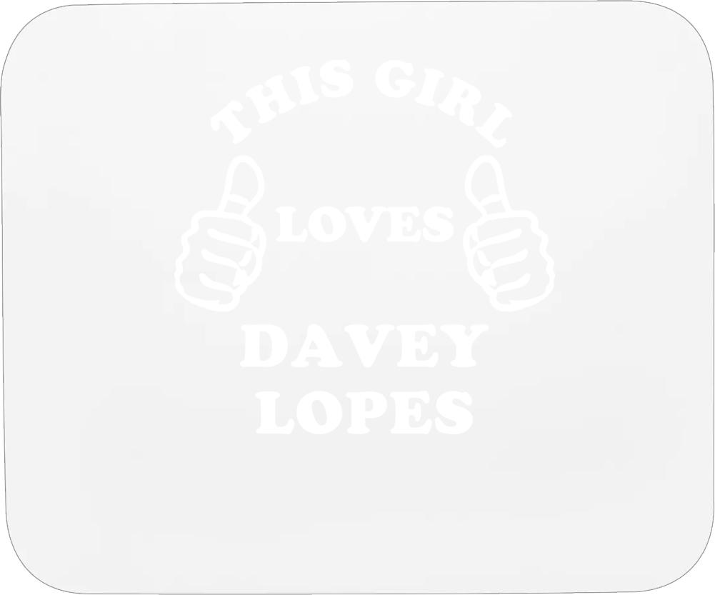 This Girl Loves Davey Lopes Chicago Baseball Mousepad