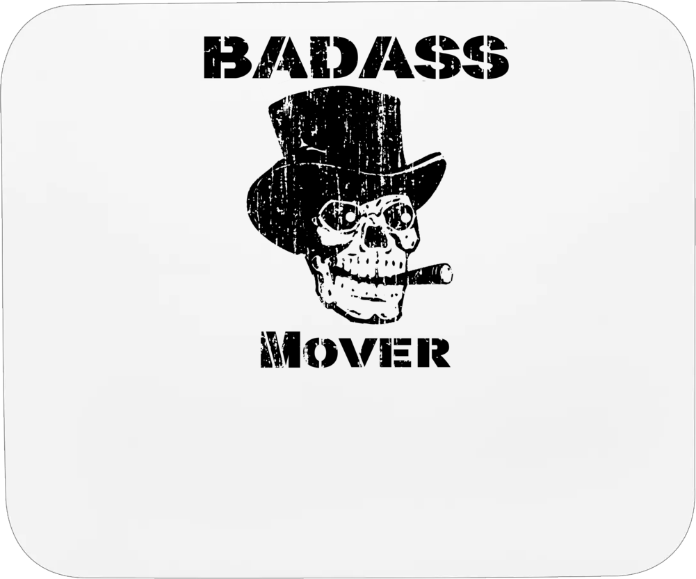 Badass Mover Skull Occupation Mousepad