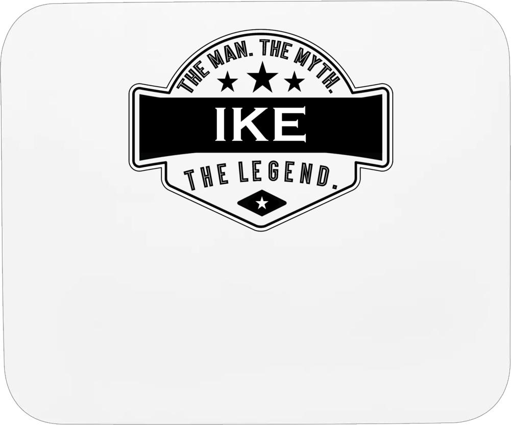 Ike Man Myth Legend Trendy Logo Label Style Cool Name Mousepad