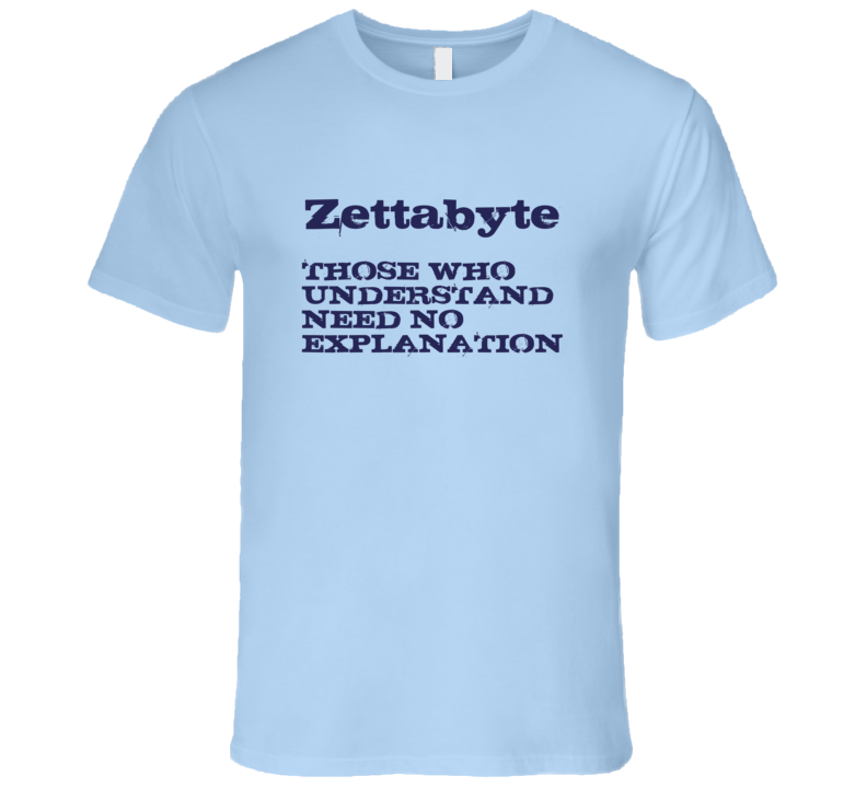 Those Who Understand Zettabyte Fun Geek T Shirt