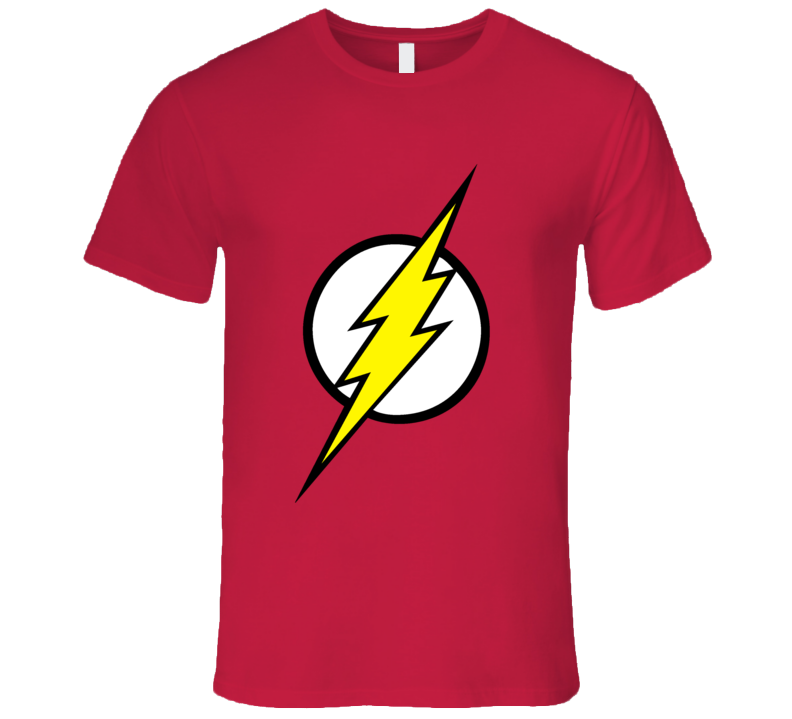 Sheldon Cooper Big Bang Theory Flash Logo T Shirt