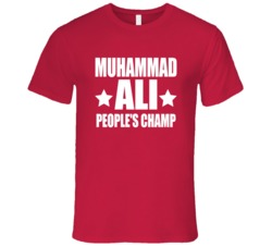 Muhammad Ali People's Champ Red T-Shirt Muhammad Ali Boxer Champion T Shirt