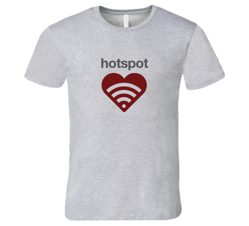 Hotspot wireless funny tech icon T-Shirt Hotspot computer geek wireless signal T Shirt