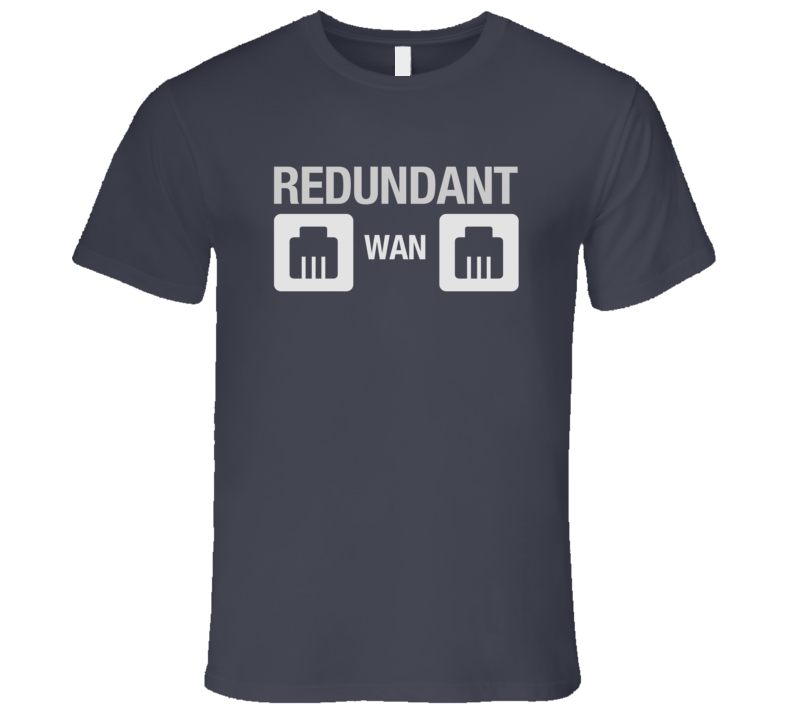 Redundant WAN LAN Connection Dark Tech T-Shirt Web Server WAN Network Hosting