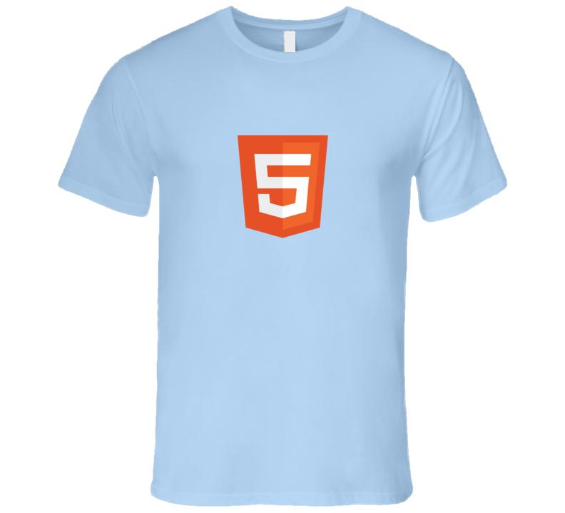Silicon Valley HTML5 Logo Light T-Shirt Software Developer HTML 5 tshirt coder
