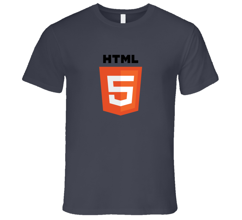Silicon Valley HTML5 Logo T-Shirt Silicon Valley Gilfoyle Coding Nerd TShirt