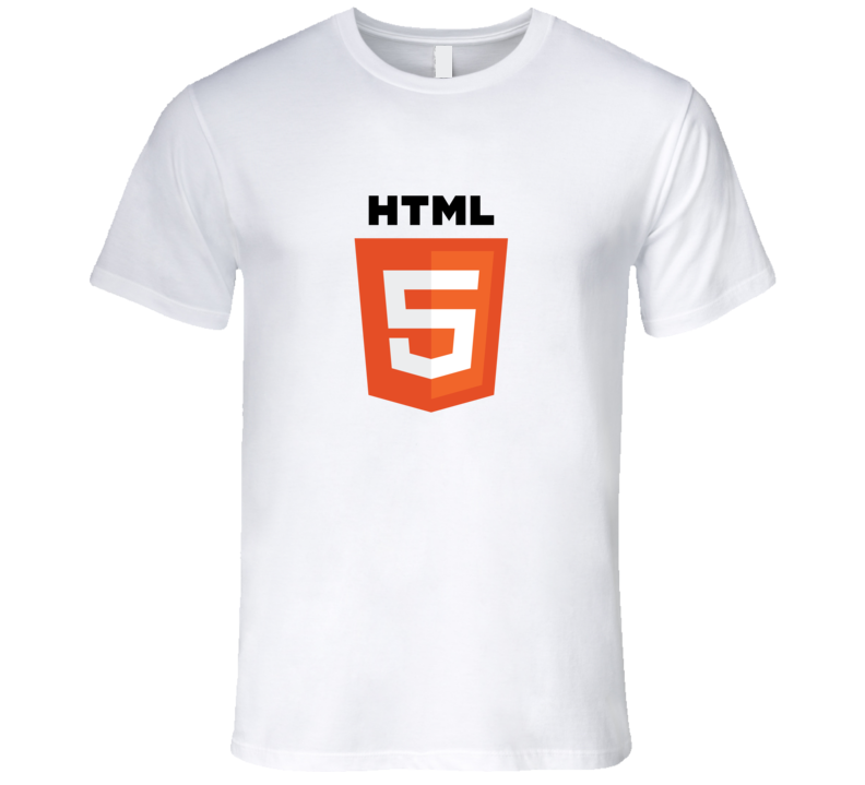 Silicon Valley HTML5 Logo Light Color With Words T-Shirt Software Developer HTML 5 tshirt coder