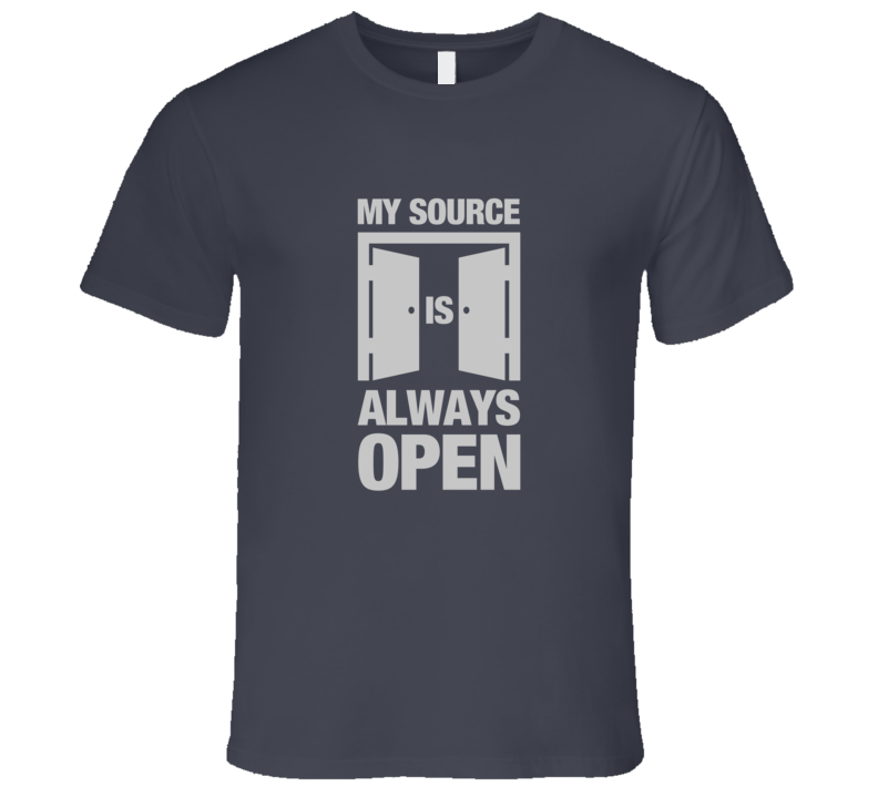 Open Source Dark T-Shirt HTML Code Technology My Source Code is Always Open Shirt