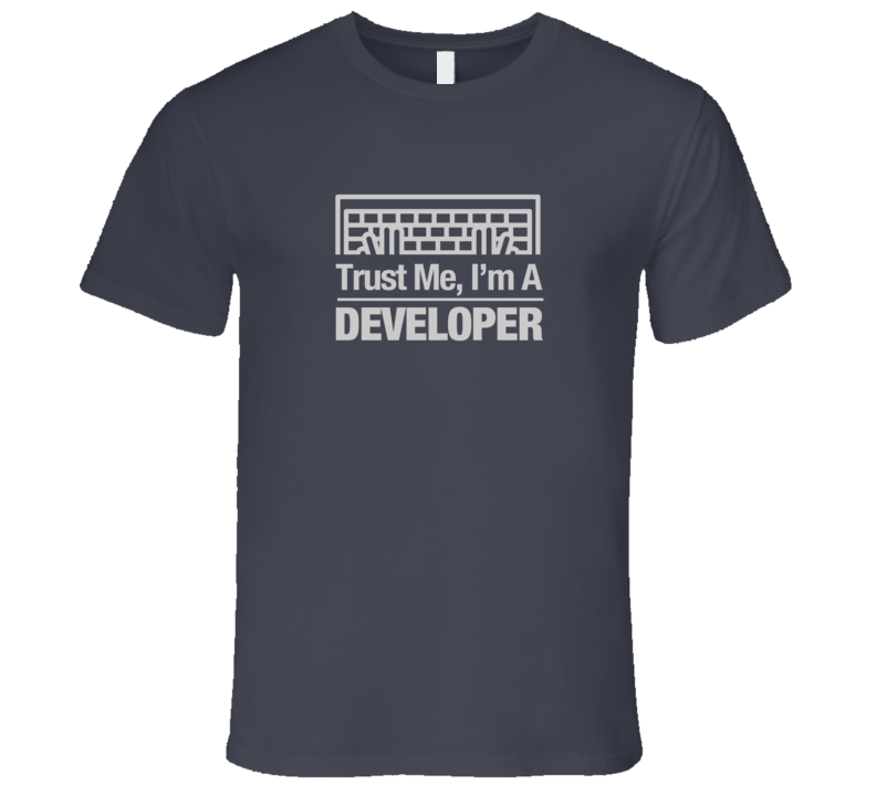 Trust Me I'm a Developer HTML Code Dark Computer Keyboard T-Shirt