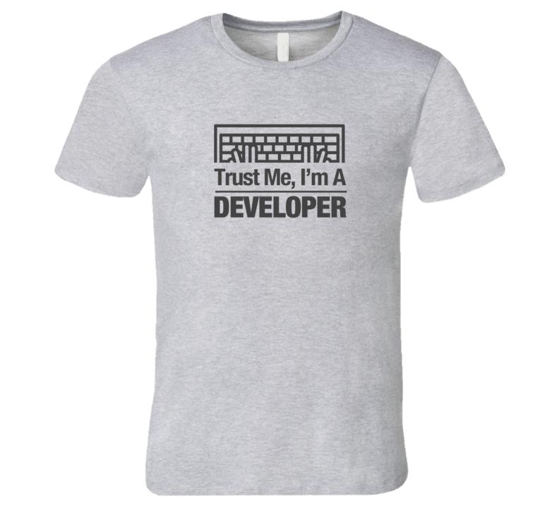 Trust Me I'm a Developer HTML Code Light Computer Keyboard T-Shirt