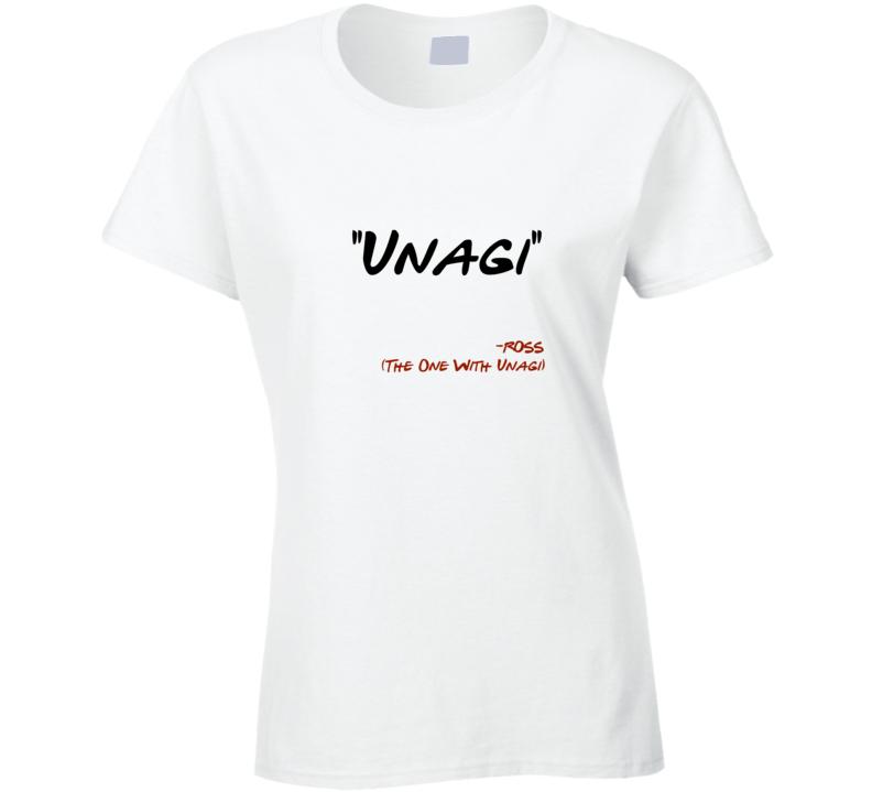 f06b55c8 Friends reunion t-shirt Friends Unagi t shirt Ross Geller Unagi t shirt