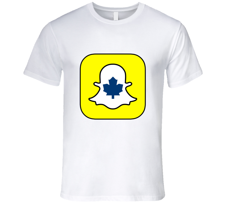 Snap Chat Toronto Maple Leafs t-shirt Sports Snap Chat t shirt