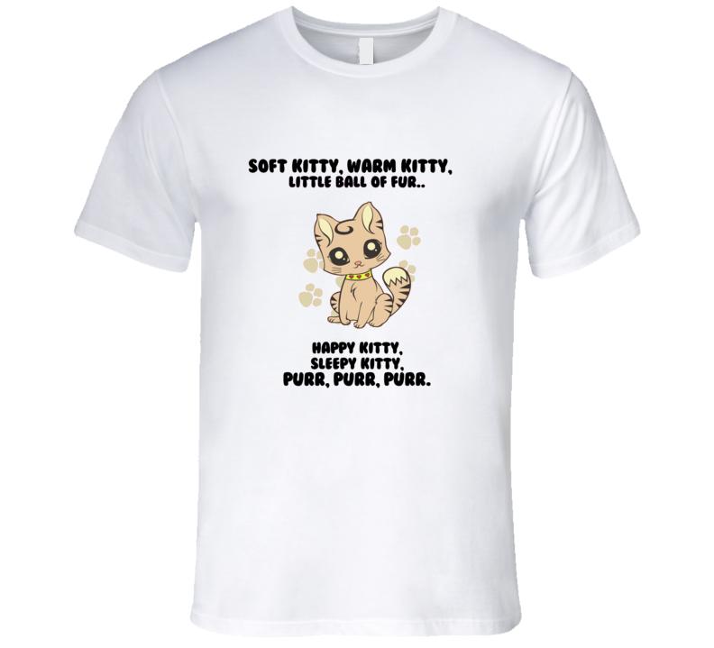 Soft Kitty t-shirt Sheldon Cooper t shirt The Big Bang Theory t shirt