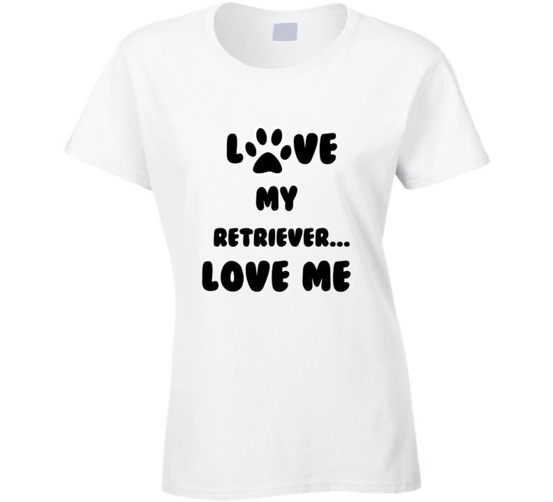 Dog Love Paw Print t-shirt Love my Retriever t shirt Love dog t shirt